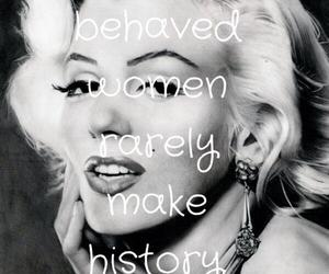 black and white, inspirational, and Marilyn Monroe image