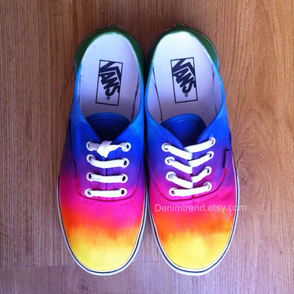 fc5cbf109ee5f7 Tie Dye Vans Shoes by denimtrend on Etsy on We Heart It