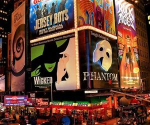 new york, broadway, and city image