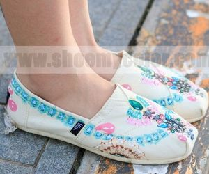 hand painted shoes, luxury jewelry, and vintage flats image