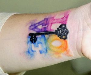 art, tattoo, and color image