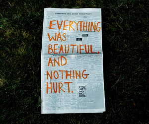 beautiful, newspaper, and text image
