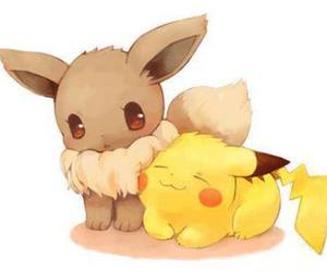 pokemon, pikachu, and eevee image
