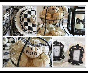 black and white, Halloween, and party image