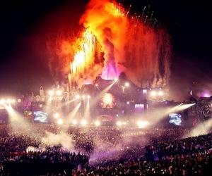 Tomorrowland, night, and music image