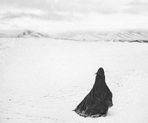 black, cold, and girl image