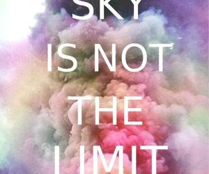 sky, limit, and quotes image