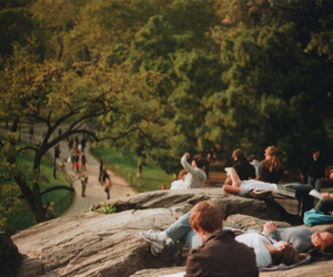 people, park, and nature image