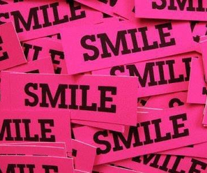 smile and pink image