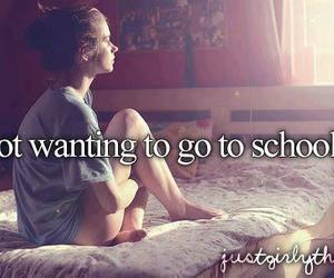 school, quotes, and sad image