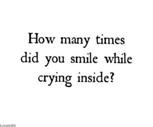 smile, crying, and quote image