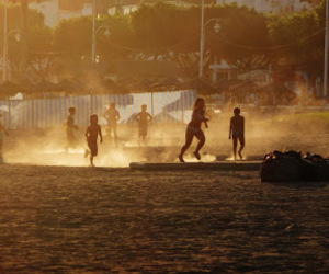 beach, evening, and kids image