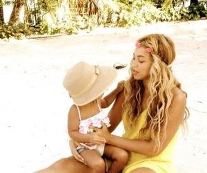 beach, beautiful, and daughter image