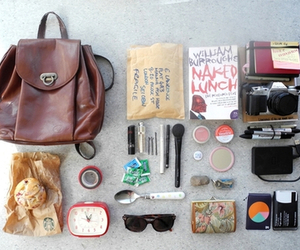 camera, starbucks, and whats in my bag image