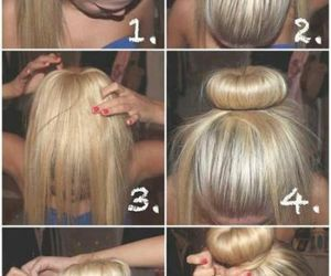 blond, Easy, and hairstyle image