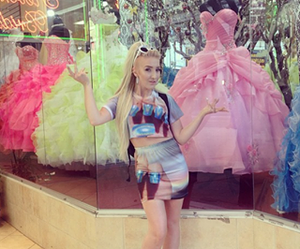 barbie, blonde, and fashion image