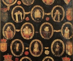family tree, old, and portraits image
