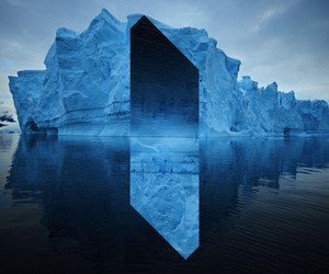 geometry, ice, and landscape image