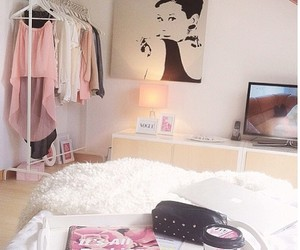 bedroom, clothes, and white image