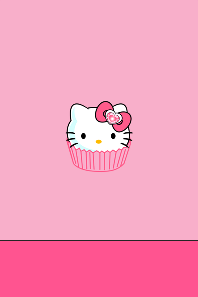 iPhone 4/4S Wallpaper - Hello Kitty Cupcake on We Heart It