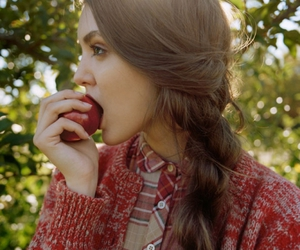 apple, cardigan, and autumn image