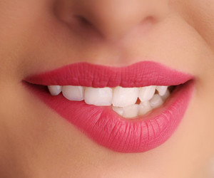 beauty, make up, and teeth image
