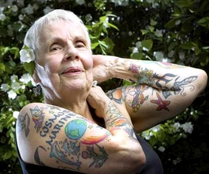 tattoo, old, and woman image