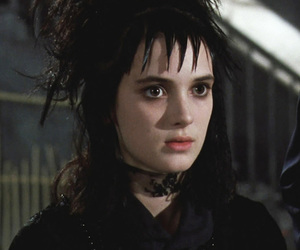 beetlejuice, winona ryder, and goth image