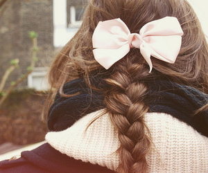 back, hair, and bow image