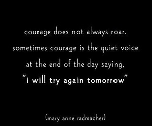 courage, quote, and life image