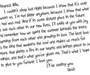 the notebook, love, and Letter image