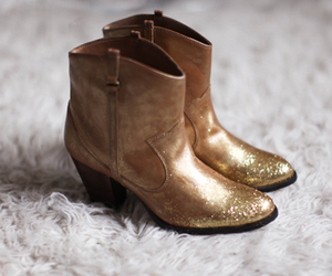 boots, gold, and fashion image