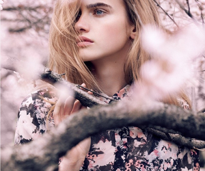 girl, blossom, and model image