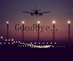 goodbye, plane, and travel image