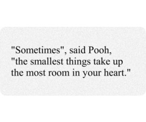 quote, heart, and pooh image