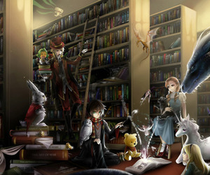 book, harry potter, and fantasy image