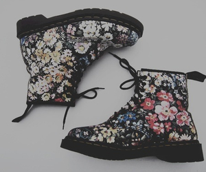 flowers, boots, and shoes image