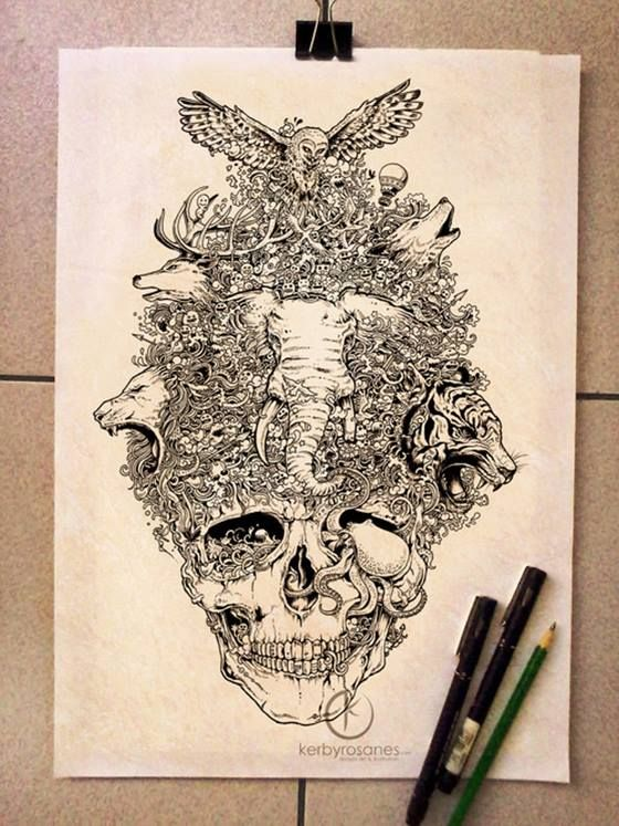 Journal Bookdesign Sketch And Doodle The Art Of Kerby Rosanes