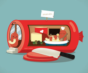 food, kawaii, and kitchen image