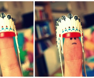 finger, indian, and cute image