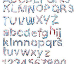 ABC, design, and font image