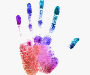 hand, colorful, and handprint image