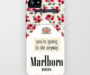 flowers, marlboro, and iphone image