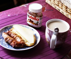 bacon, breakfast, and coffe image