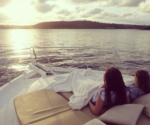 girl, summer, and boat image