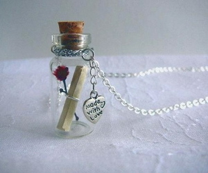 love, bottle, and message image
