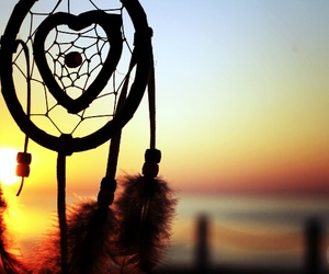 Dream, sunset, and catcher image