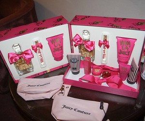 body spray, juicy couture, and girly image