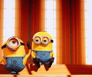 minions, despicable me, and dancing image