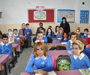 one direction, demi lovato, and school image